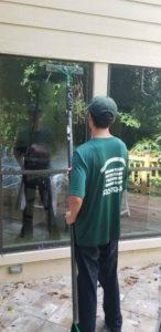 Washing windows in Katy